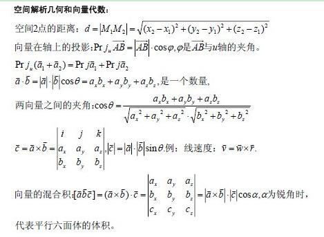 gct数学重点公式汇总